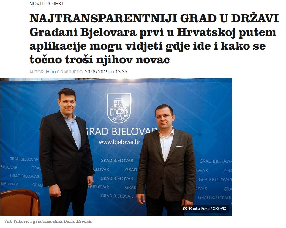 Priču o uvođenju potpune transparentnosti u Bjelovaru prenijeli su gotovo svi mediji